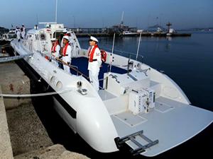 Yonca-Onuk'un inşa ettiği TCSG-34 botu Aliağa'da hizmete girdi