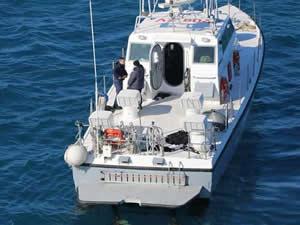 Karaya oturan Yunanistan sahil güvenlik botu kurtarıldı