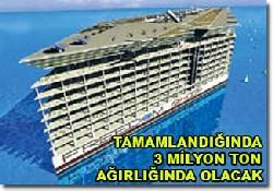 Yüzen şehrin İnşası Türkiye'de