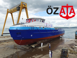 Özata Tersanesi Gharb Al Qurna 1 adlı gemiyi  denize indirdi