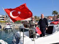 Kalamisia isimli yat, Çeşme'de Türk bayrağına geçen ilk yat oldu