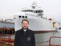 MTA Oruç Reis, petrol aramak için denize iniyor