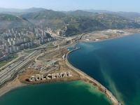 Trabzon Sahili Dolgu Projesi çalışmaları devam ediyor