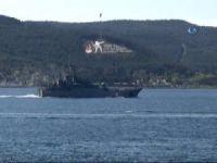 Rus savaş gemisi Caesar Kunikov, Çanakkale Boğazı'ndan geçti