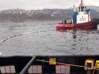 İzmit Körfezi'nde petrol sızıntısı temizliği, başarıyla sona erdi
