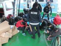 Sarıyer'de tekneye kaçak sigara operasyonu düzenlendi