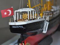 600 parçayla Gülcemal Gemisi'nin maketini yaptı