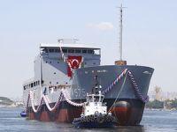 TCG Üsteğmen Arif Ekmekçi Lojistik Destek Gemisi, Selah Tersanesi'nde denize indirildi