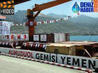 İnsani yardım gemisi Blue Fury, Yemen'e uğurlandı