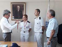T/S SAMSUN Eğitim Gemisi Çanakkale'ye demirledi