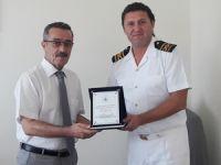 T/S SAMSUN Eğitim Gemisi Marmaris Limanı'na demirledi