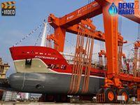Akdeniz Tersanesi, M/T KYSTBUNKER II isimli tankeri denize indirdi