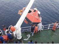 T/S SAMSUN Staj ve Eğitim Gemisi'nde, Can Salı Talimi ve Eğitimi yapıldı