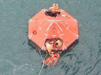 T/S Samsun Eğitim Gemisi'nde 'Gemi Terk' talimi yapıldı