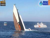 Girne açıklarında sahil güvenlik botu batırıldı