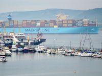 Maersk Hong Kong Çanakkale Boğazı'ndan geçti