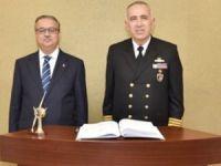Güney Deniz Saha Komutanı Aydın Şirin, Vali Ali İhsan Su'yu ziyaret etti