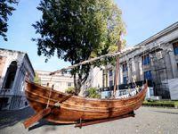 'Yenikapı 12' teknesi İstanbul Arkeoloji Müzeleri'nde sergileniyor