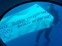Türkiye Beyazay Derneği, engelli bireylere denizaltı heyecanı yaşattı