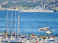 'Minsk' isimli gemi Çanakkale Boğazı'ndan geçti
