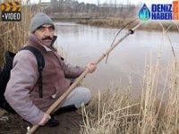 Sivas'ta Basma Tor ile balık avı yapılıyor