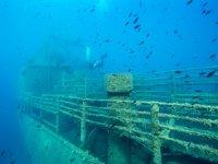 Batık M/V Monem'in olduğu bölge dalış turizmine açılıyor