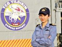 TCG Yıldırım'ın tek kadın subayı, görevleri başarıyla yapıyor
