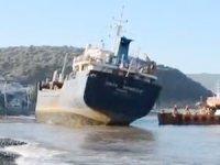 Karaya oturan M/V SINAN NAIBOGLU kurtarılamadı