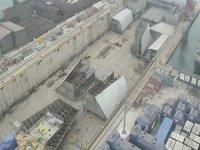 TCG ANADOLU, blok montajı esnasında görüntülendi