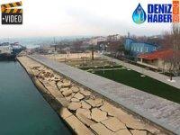 Piri Reis Sahil Düzenlemesi Proiesi'nde çalışmalar devam ediyor