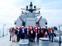Ağrılı öğrenciler, TCG Gayret Gemi Müzesi'ni ziyaret etti