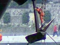 M/V VITASPIRIT'in çıpası elektrik kablolarına takıldı!