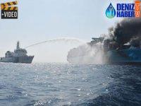 'M/V MAERSK HONAM' beş haftadır yanmaya devam ediyor