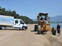 İznik Gölü Orhangazi Sahili, yaz sezonuna hazırlanıyor