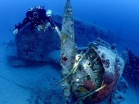 Ege Denizi'nde nazi savaş uçağının enkazı bulundu!