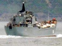 Rus Donanması'na ait 'Orsk', Çanakkale Boğazı'ndan geçti