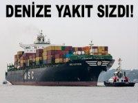MSC KATYAYNI, Yılport iskelesine çarptı, yakıt tankından denize fueloil döküldü!