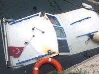 Bandırma'da balıkçı teknesi battı