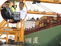 Asyaport Limanı'na XIN SHANGHAI isimli ilk COSCO gemisi yanaştı