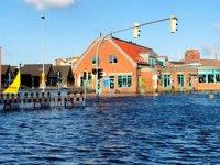 Almanya'daki Wismar Limanı, sular altında kaldı
