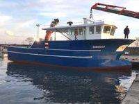 Cihan Usta'nın inşa ettiği gemi, Tekkeköy'de denize indirildi