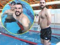 Engelli yüzücü Hacı Çağlar, milli formayı giymeyi hedefliyor