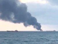 Kerç Boğazı'nda 'Kandy' ve 'Maestro' isimli gemilerde yangın çıktı! Gemide Türkler de var...