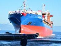 İÇDAŞ'ın yeni gemisi 'İÇDAŞ-5' suya indirildi