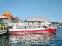 Sarıyer'de 'HEPGÜL 1' isimli tur teknesinde yangın çıktı