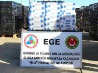Aliağa Limanı'nda 500 bin paket kaçak sigara ele geçirildi
