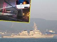 'USS Donald Cook' isimli savaş gemisi, Çanakkale Boğazı'ndan geçti