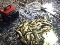 Elbistan'da jeneratörle balık avına 10 bin lira ceza kesildi
