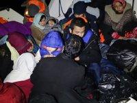 Ayvacık'ta 73 kaçak göçmen yakalandı