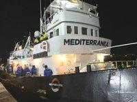 'Mediterranea' isimli gemi seferden men edildi